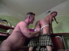 Older guy bangs this pigtailed girl hard movies at freekiloporn.com