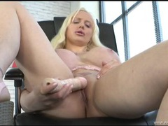 English bimbo with massive tits fucks a toy videos