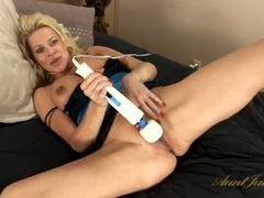 Hot naked mom and her toys get it on videos