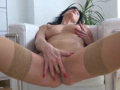 Classy masturbating milf with a hand down her panties movies at reflexxx.net