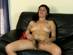 Nude hairy girl gives a flirty interview movies at adspics.com