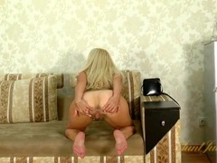 Vivacious solo mature blonde dancing for you movies at lingerie-mania.com