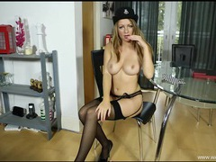British lady cop stripping and giving lusty joi videos