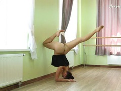 Flexible ballerina stretching in the nude videos