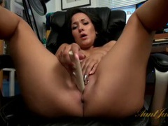 Two rings hanging off her milf pussy lips movies at freekilomovies.com