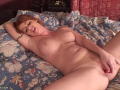 Freckled milf redhead fucking her dildo movies at find-best-babes.com