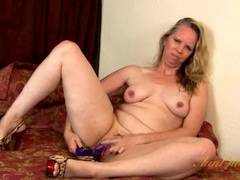 Sexy leopard print heels on a hot masturbating old lady movies at lingerie-mania.com