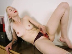 British lipstick girl rubbing a toy along her cunt movies at find-best-ass.com