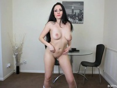Milf in a tiny skirt really knows how to dance movies at sgirls.net