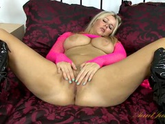 Latex boots babe masturbating her milf cunt movies