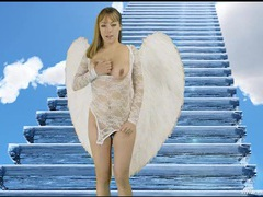 Joi from an angel in sexy white lingerie movies at kilotop.com