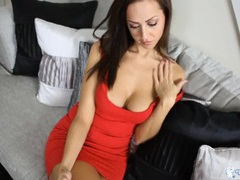Smoking hot babe in a tight red dress videos
