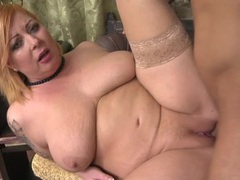 Fat cocksucker fingered in her slick pussy videos