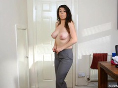 Beauty in business clothes stripping for you movies at adipics.com