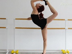 Redheaded ballerina in a little black dress videos