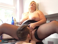 Bbw mature fucks with a big dick boy by agedlove videos
