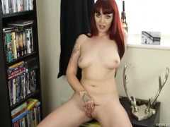 Full coverage panties are sexy on the english redhead videos