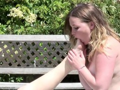 Toe sucking and pussy eating bbws outdoors videos