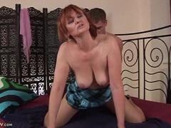 Helga the mature redhead fucked by a young guy videos