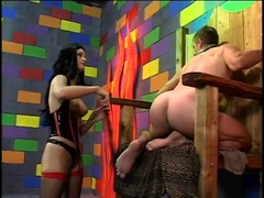 Slave subjected to pain by his mistress videos