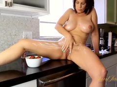 Whipped cream all over her sexy housewife body videos