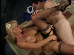 Gorgeous big fake tits on this dick riding milf hottie tubes
