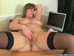 Britain's sexiest mature secretaries movies at lingerie-mania.com