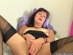 British granny georgie nylons fucks herself with a dildo videos