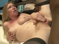 Hairy blonde pussy banged by a big dark dick videos
