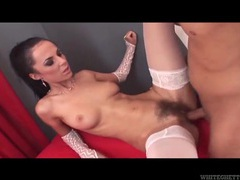 Making a cummy mess in her pubic hair movies at sgirls.net