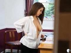 Big titties teased in her sexy white blouse movies at sgirls.net