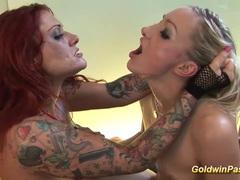Tattooed lesbians fisting fun movies at find-best-lingerie.com