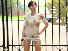 Public nudity is breathtaking with this brunette videos