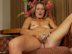 Mom masturbating in her dining room chair movies at dailyadult.info