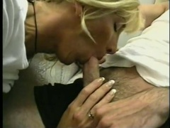 Fake boobs milf babe takes two dicks videos