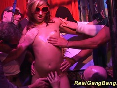 Her first extreme gangbang party tubes