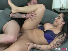 Horny tattooed couple fucking passionately movies at find-best-ass.com