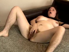 Hairy girl in wool tights rubs her body all over movies at kilopics.net