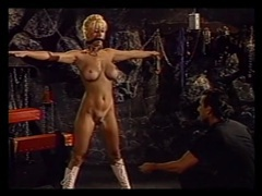 Sub women subjected to painful flogging in a dungeon tubes