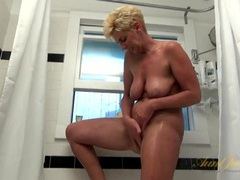 Pussy rubbing old babe in the shower movies at very-sexy.com