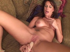 Dildo fucking milf babe with splendid big tits videos