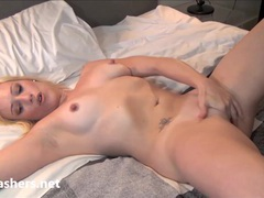 Sexy blonde flasher axa jay movies at freekilomovies.com