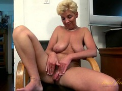 Saggy mature tits babe interviews in the nude movies at lingerie-mania.com