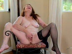 Stockings granny masturbates her hot pussy movies at lingerie-mania.com