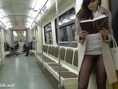No pants on the subway with a pantyhose girl movies at dailyadult.info