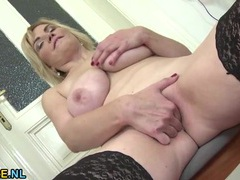 Tit fondling solo milf babe pleasures her pussy too movies at sgirls.net