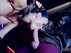 Big dicks fuck a kinky slut in the dungeon movies