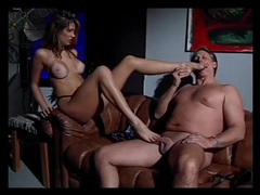 Thick cock guy gets a glorious footjob movies at kilosex.com