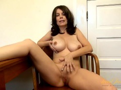 Huge natural milf tits and a shaved pussy videos