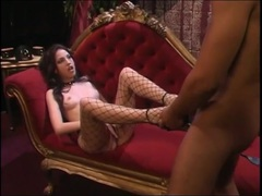 Mistress gives her subby boy a footjob videos